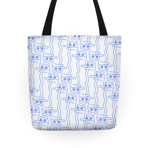 Long Cat Pattern Tote