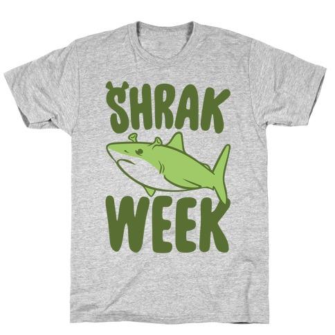 Shrak Week Shrek Shark Week Parody T-Shirt