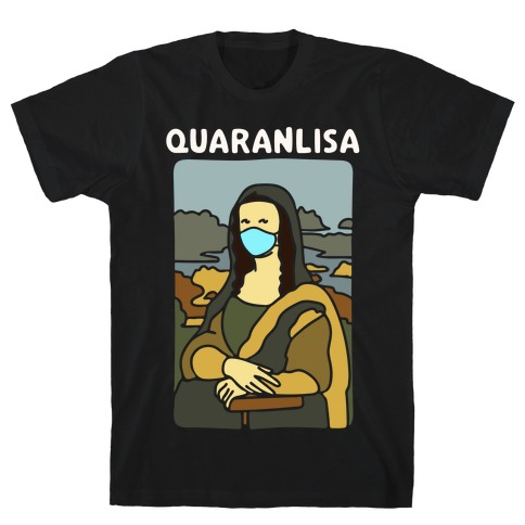 Quaranlisa Parody White Print T-Shirt