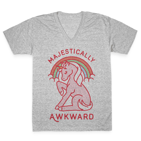 Majestically Awkward V-Neck Tee Shirt