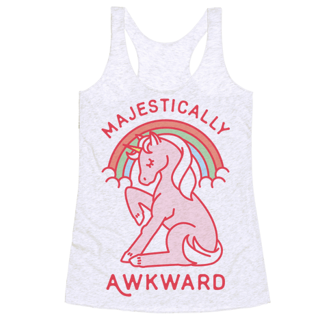 Majestically Awkward Racerback Tank Top