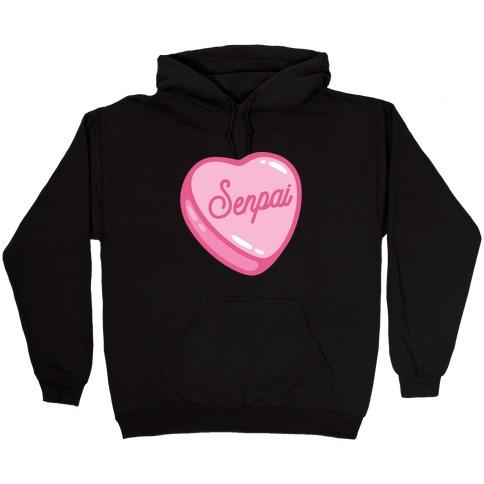 Senpai Candy Heart Hooded Sweatshirt