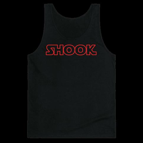 Shook Parody White Print Tank Top
