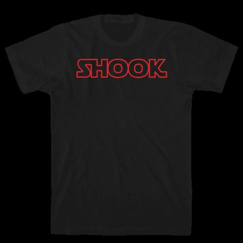 Shook Parody White Print Mens T-Shirt