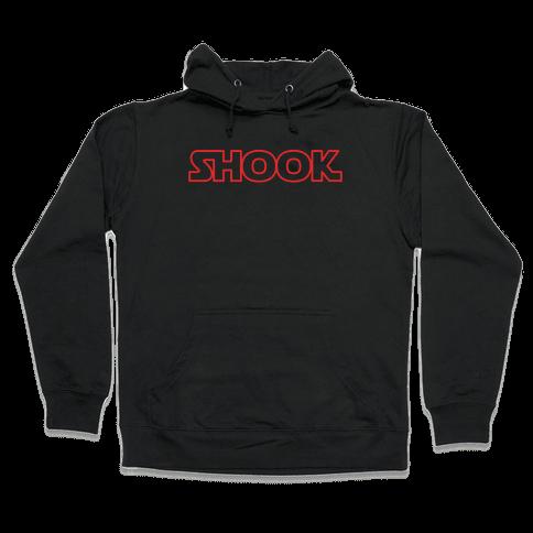 Shook Parody White Print Hooded Sweatshirt