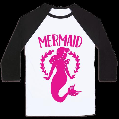 Mermaid Sisters (Pink) Baseball Tee