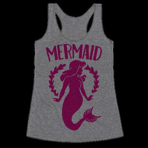 Mermaid Sisters (Pink) Racerback Tank Top