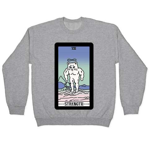 Strength Cat Meme Tarot Card Pullover