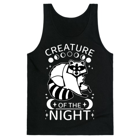 Creature Of The Night Raccoon Tank Top