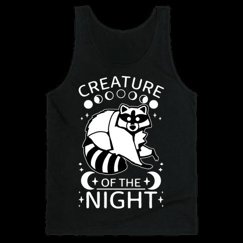 Creature Of The Night Raccoon Tank Top