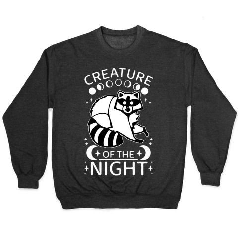 Creature Of The Night Raccoon Pullover