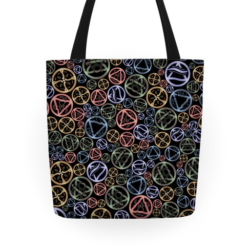 Witch's Elements Dark Pattern Tote