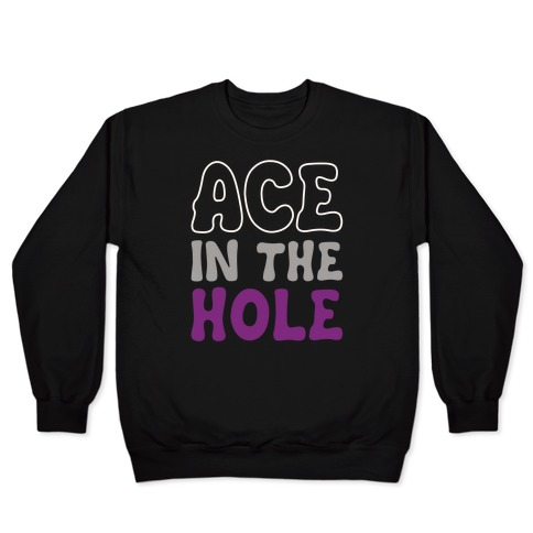 Ace In The Hole White Print Pullover