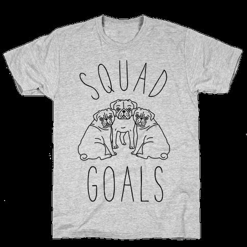 Squad Goals Pugs Mens T-Shirt