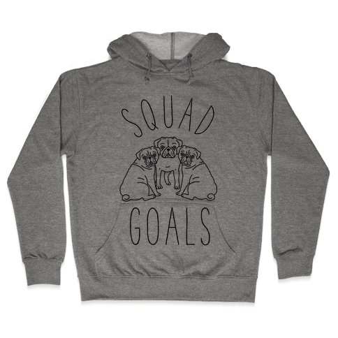 Squad Goals Pugs Hooded Sweatshirt