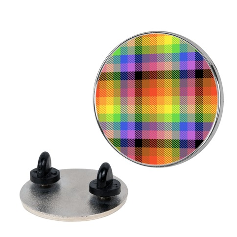 Pride Flag Plaid Pin