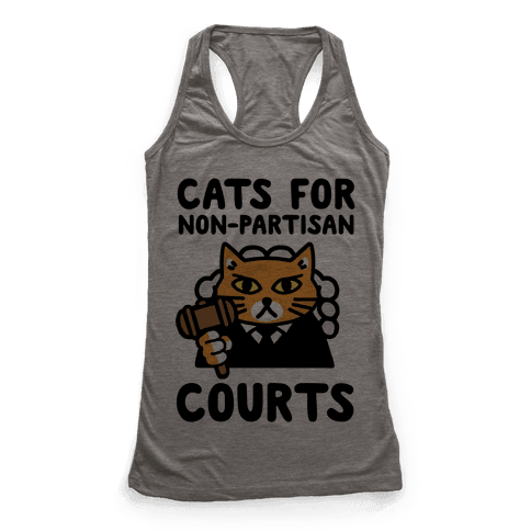 Cats for Non-Partisan Courts Racerback Tank Top