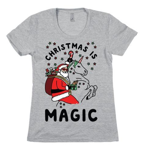 Christmas is Magic Womens T-Shirt