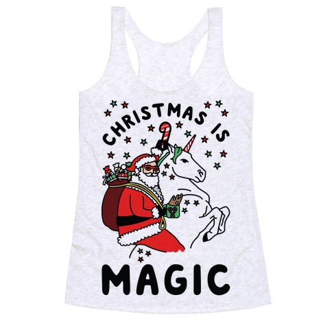 Christmas is Magic Racerback Tank Top