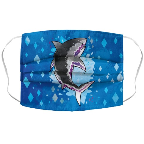 Pride Sharks: Ace Accordion Face Mask