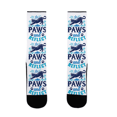 Paws And Reflect (Cat) Sock
