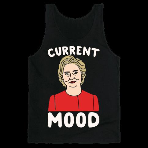 Current Mood Hillary White Print Tank Top