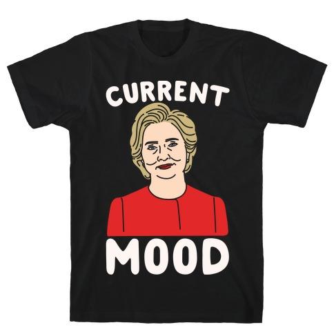 Current Mood Hillary White Print T-Shirt