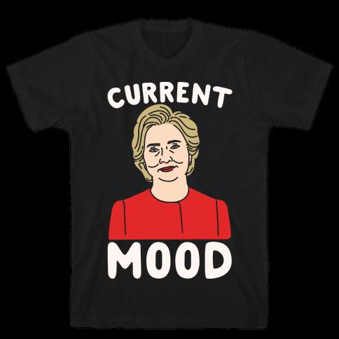 Current Mood Hillary White Print Mens T-Shirt