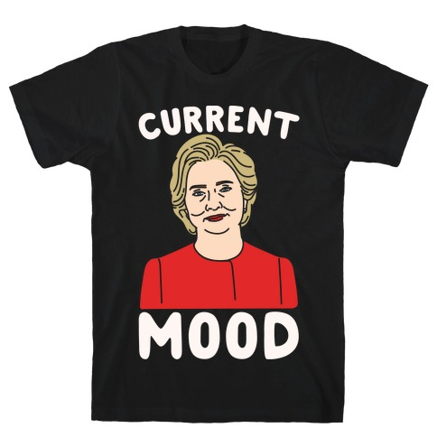 Current Mood Hillary White Print T-Shirt