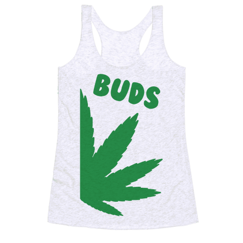 Best Buds Couples (Buds)  Racerback Tank Top