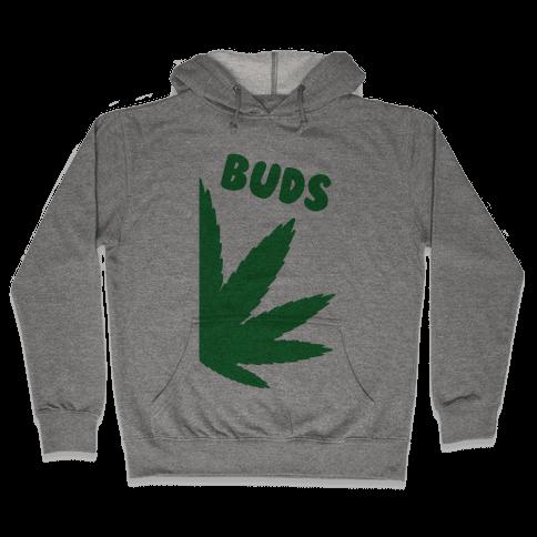 Best Buds Couples (Buds)  Hooded Sweatshirt