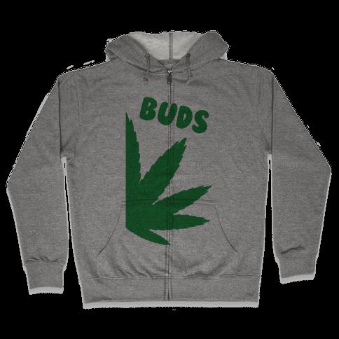 Best Buds Couples (Buds)  Zip Hoodie