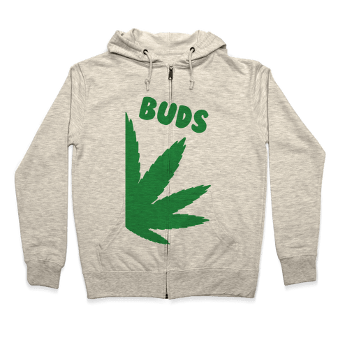 Best Buds Couples (Buds)  Zip Hoodie