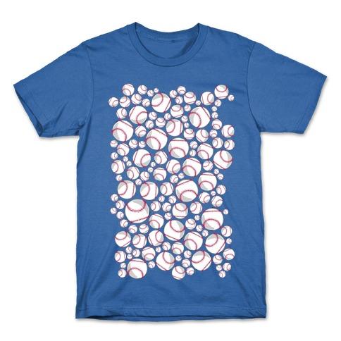 Baseballs Pattern T-Shirt