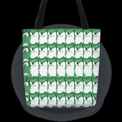 Shiba Green Hue Tote