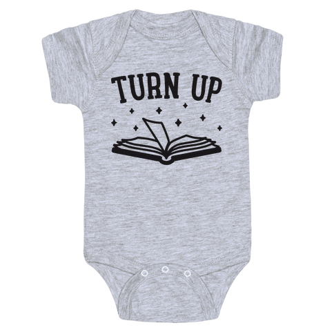 Turn Up Book Baby Onesy