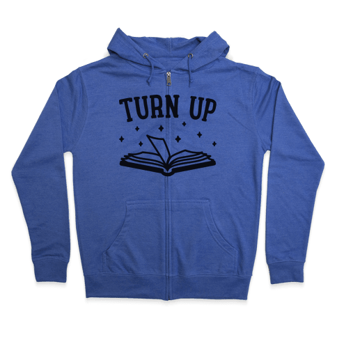 Turn Up Book Zip Hoodie