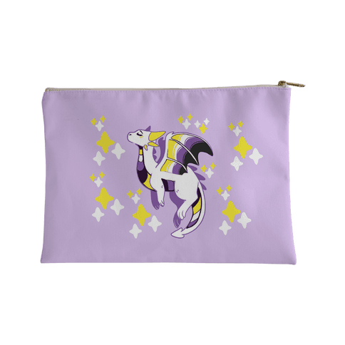 Non-Binary Pride Dragon Accessory Bag