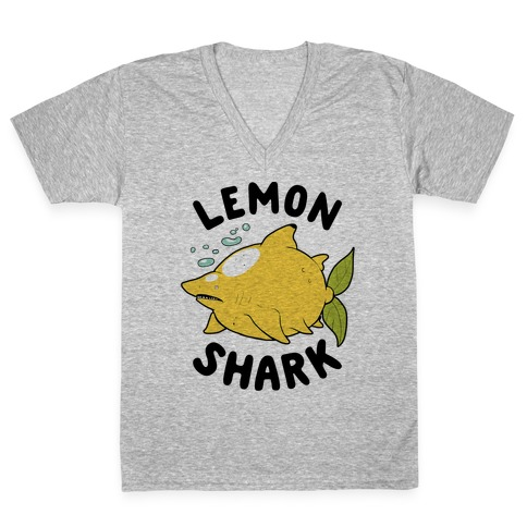 Lemon Shark V-Neck Tee Shirt