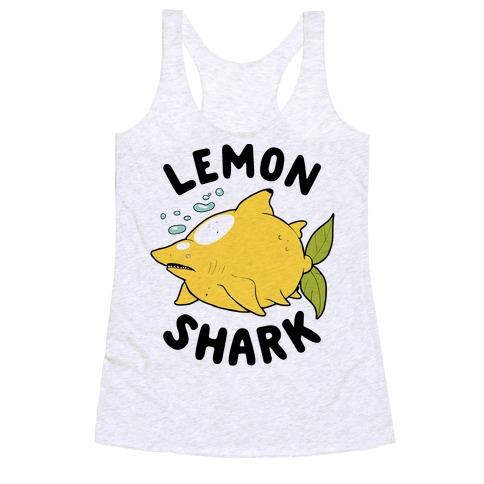 Lemon Shark Racerback Tank Top