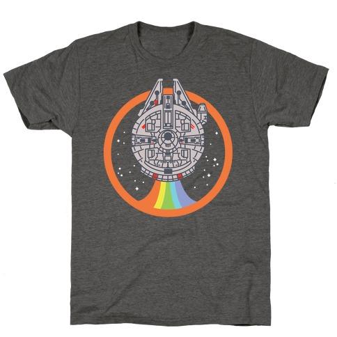 Retro Rainbow Falcon T-Shirt
