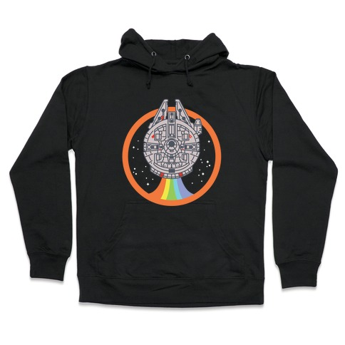 competitive price 4e5db c5691 Retro Rainbow Falcon Hoodie | LookHUMAN