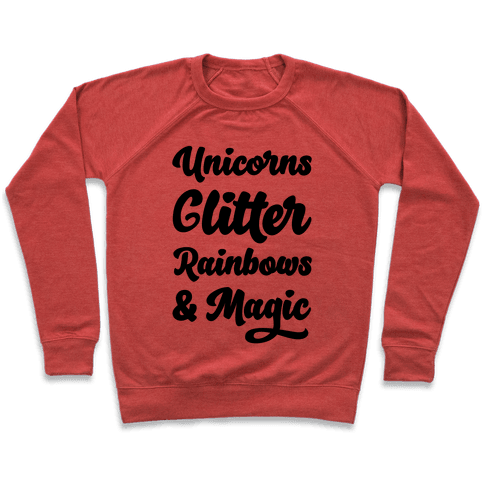 Unicorns Glitter Rainbows & Magic Pullover