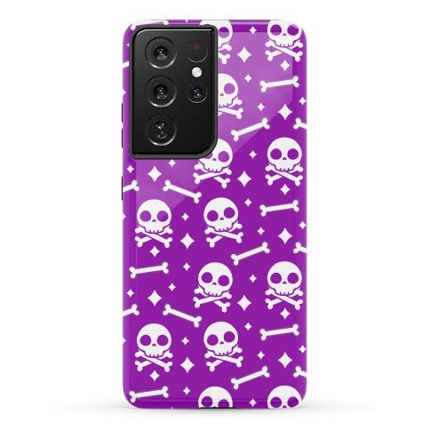 Cute Skull N' Bones Pattern (Purple) Phone Case