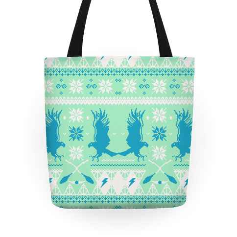 Hogwarts Ugly Christmas Sweater: Ravenclaw Tote