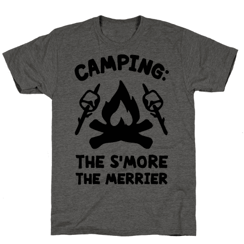 Camping The S'more The Merrier Mens T-Shirt