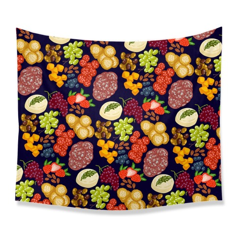 Charcuterie Board Pattern Tapestry