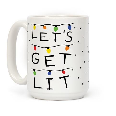 Let's Get Lit Christmas Lights Coffee Mug