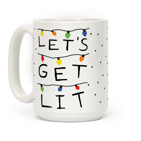 Let's Get Lit Christmas Lights Coffee Mug