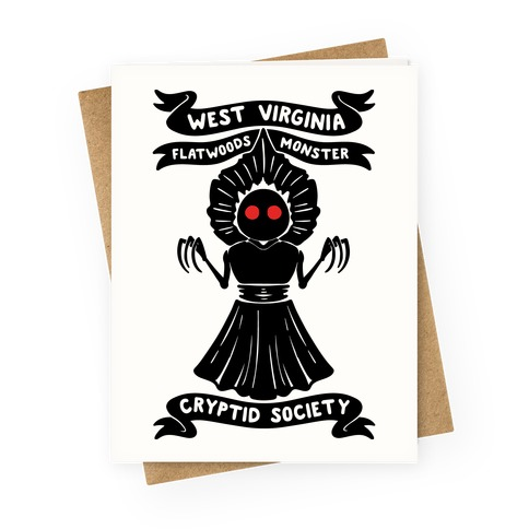 West Virginia Flatwoods Monster Cryptid Society Greeting Card